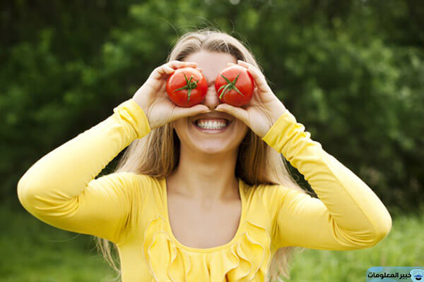 طرق الحصول على فوائد الطماطم للبشرة